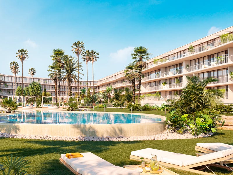 Denia Beach - 1, 2 and 3 bedroom apartments with terrace overlooking the sea or with views over the Montgó mountain, at the beach of La Almadraba beach 8