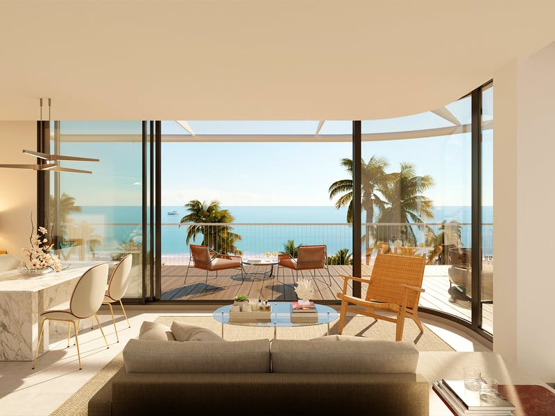 Denia Beach - 1, 2 and 3 bedroom apartments with terrace overlooking the sea or with views over the Montgó mountain, at the beach of La Almadraba beach 4