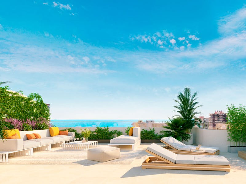 2 and 3 bedroom apartments in a complex next to the sea in Playa San Juan 26