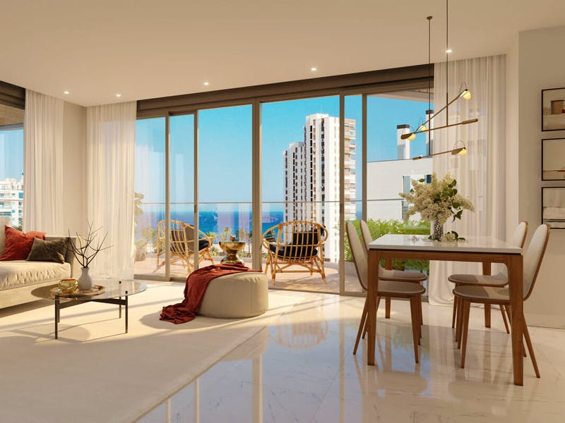 2 and 3 bedroom apartments in a complex next to the sea in Playa San Juan 12