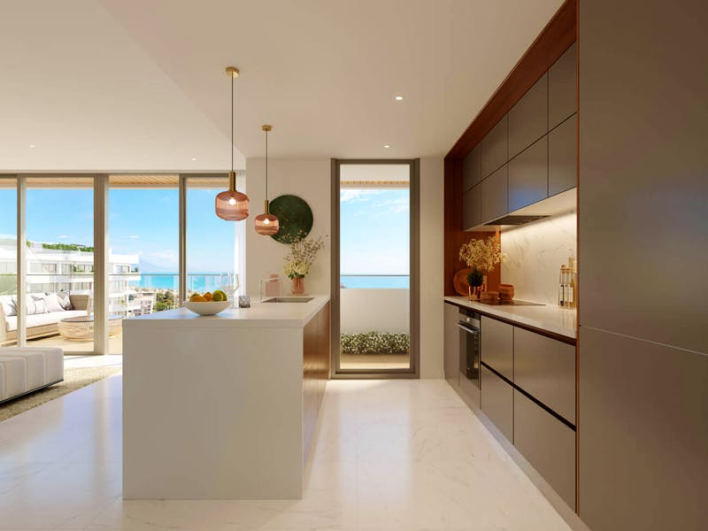 2 and 3 bedroom apartments in a complex next to the sea in Playa San Juan 10