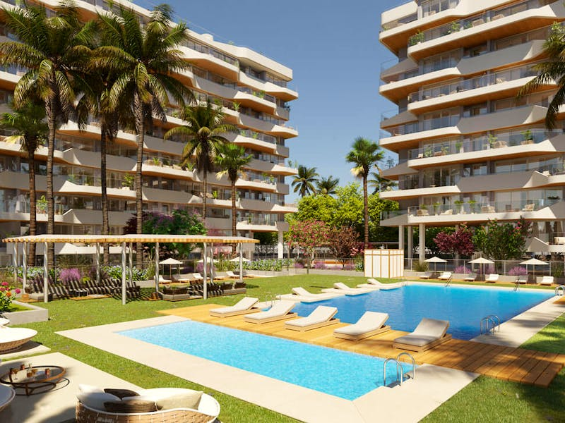 2 and 3 bedroom apartments in a complex next to the sea in Playa San Juan 3