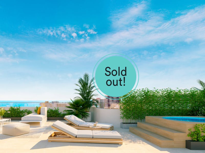 2 and 3 bedroom apartments in a complex next to the sea in Playa San Juan 0