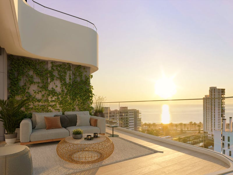 2 and 3 bedroom apartments in a complex next to the sea in Playa San Juan 14