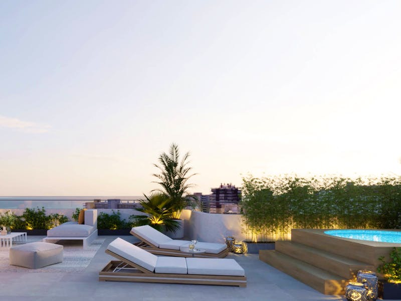 2 and 3 bedroom apartments in a complex next to the sea in Playa San Juan 8