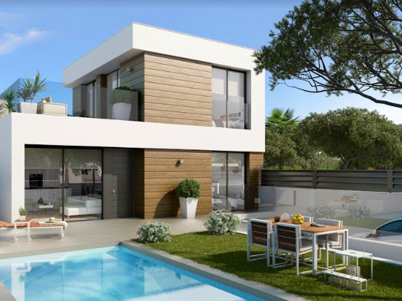 Spacious 3 and 4 bedrooms villas only a few minutes from the L'Amerador beach in Campello 0