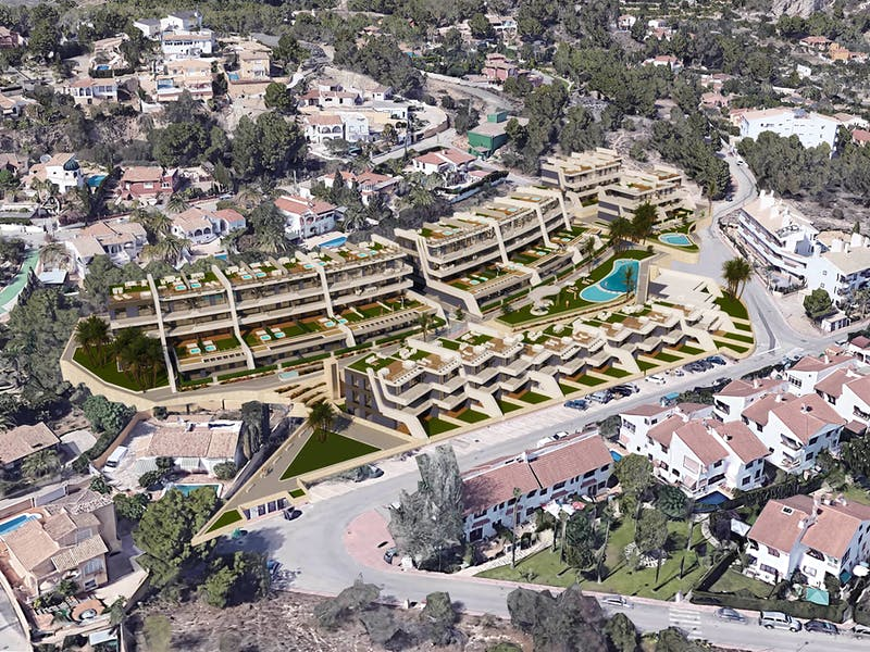 New build properties in Alfaz del Pi 15